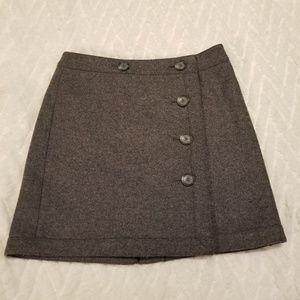 Ann Taylor Loft Petite Grey Wool Skirt Sz 2